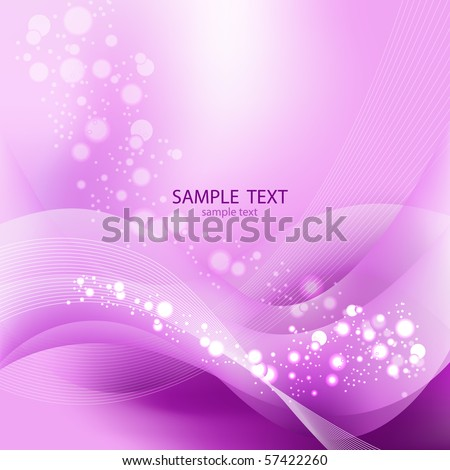 Vector Background. Bright Lights on violet - stock vector
