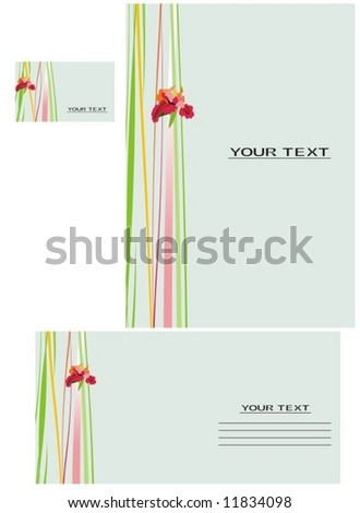 Vector background, business card, letter-6 - stock vector