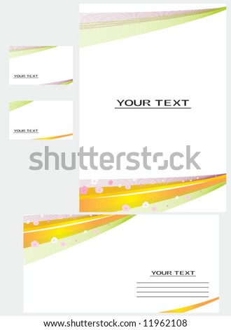 Vector background, business card, letter-1 - stock vector