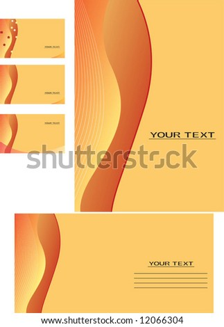 Vector background, business card, letter-16 - stock vector