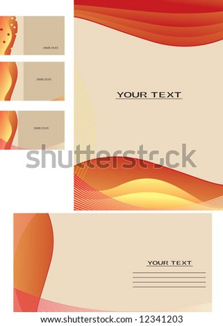 Vector background, business card, letter-18 - stock vector