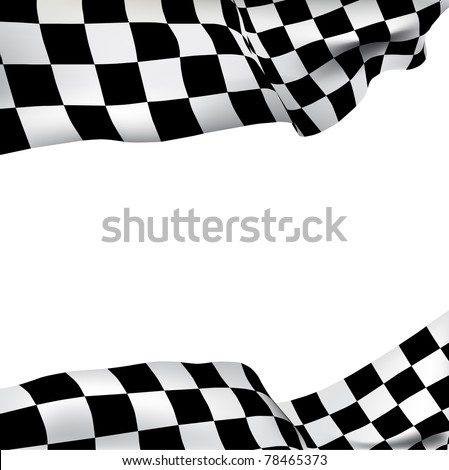 Vector background checkered flag Formula one with space for your text - stock vector