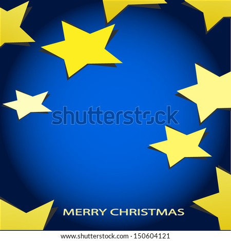 Vector background christmas 2014 paper