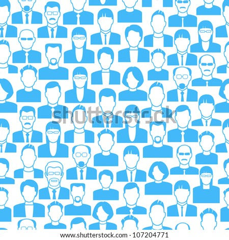 vector  background consists of many icons of modern humans. - stock vector