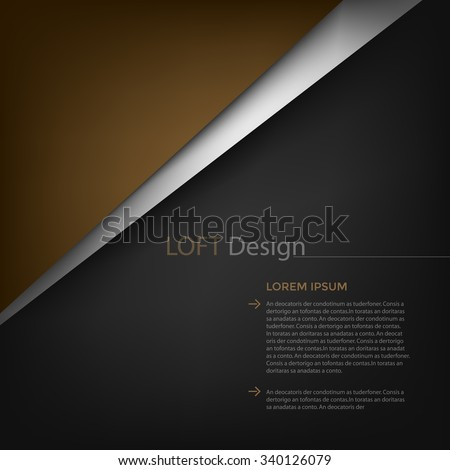Vector background design with loft color tone concept brown and black with space for text design  - stock vector