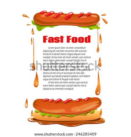 Vector background. Diet. Fast food. Vector backdrop. Health care.  - stock vector