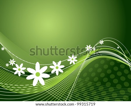 Vector Background. Floral Illustration. - stock vector