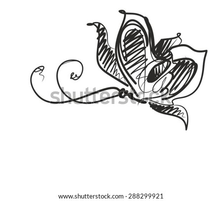 Vector background for design with a beautiful butterfly - stock vector
