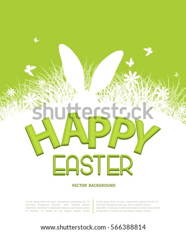 Vector Background Easter Template Brochure Rabbit Stock Vector
