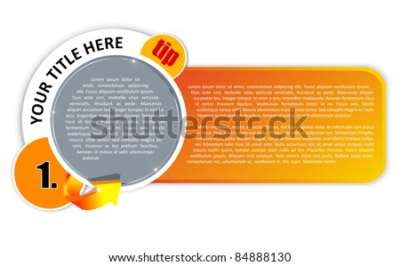 Vector background for magazine tips, reviews and other publications - stock vector