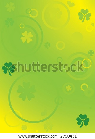 Vector background for st. patrick day with clovers - stock vector