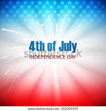 Vector background for 4th of July American independence day - stock vector