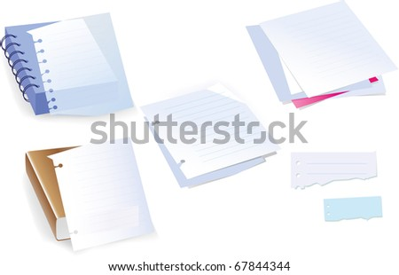 Vector. Background from a paper. Sheet, page - stock vector