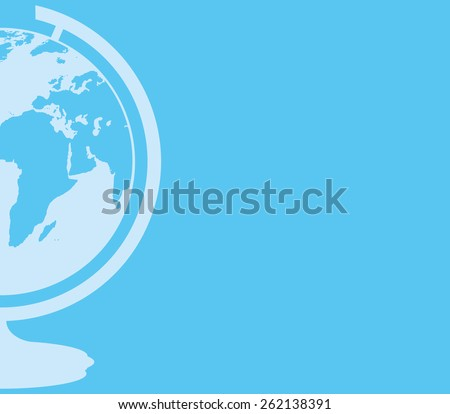 Vector background. Globe.