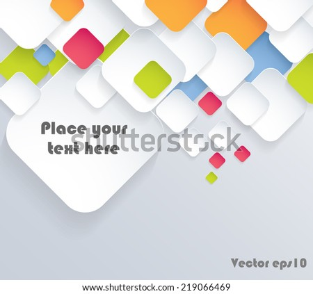 Vector background, Illustration of abstract rounded squares. Background design for poster, flyer, cover, brochure. Eps10. - stock vector