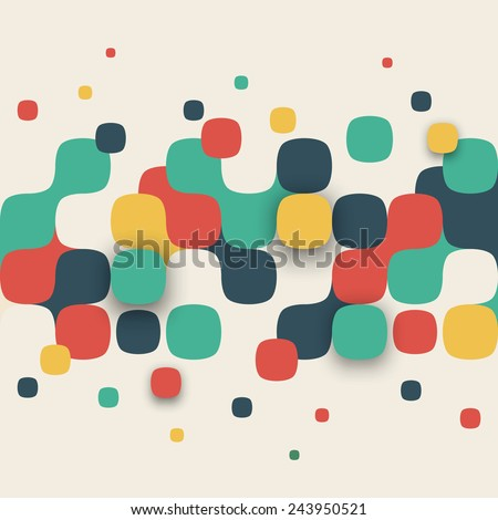 Vector background. Illustration of abstract texture with squares. Pattern design for banner, poster, flyer, card, postcard, cover, brochure. - stock vector
