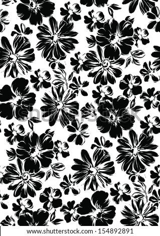 Vector background in black. - stock vector