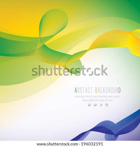 Vector background in Brazil flag color concept. Can be used in cover design, book design, website background, CD cover, advertising.  - stock vector