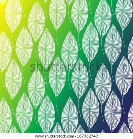Vector background in Brazil flag concept. Seamless floral ornament.