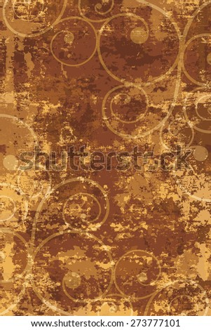 Vector background in grunge style. The damaged surface with a pattern - stock vector