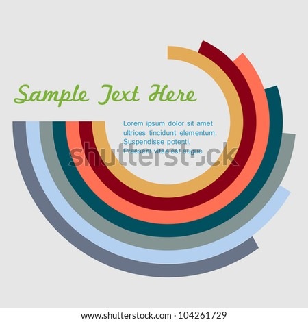 Vector background in retro style - stock vector