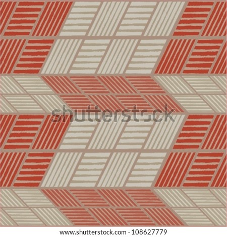 Vector background made of zig zag stripes - stock vector