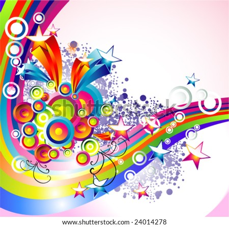 VECTOR Background Mix of abstract colorful elements