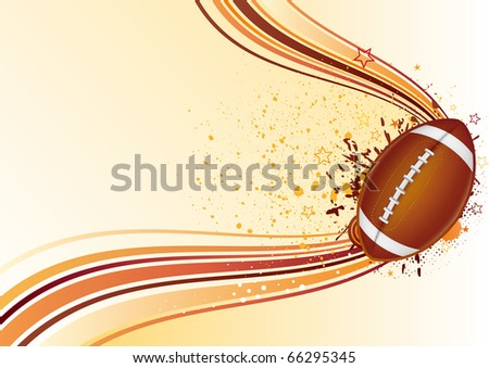 vector background of american football - stock vector