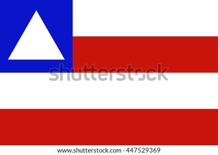vector background of bahia state flag in brazil - stock vector