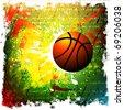 vector background of basketball sport - stock vector