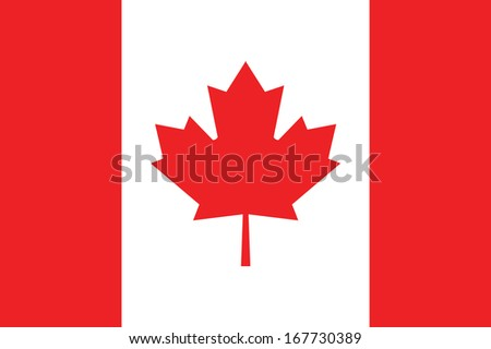 vector background of canada flag - stock vector