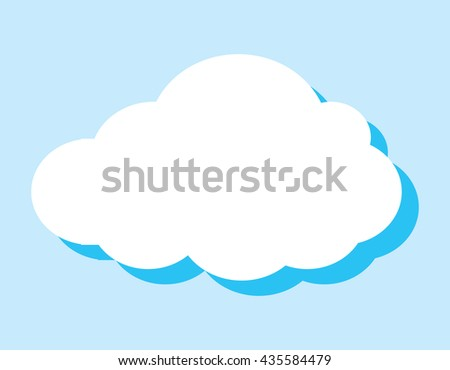 vector background of cloud with blank copy space