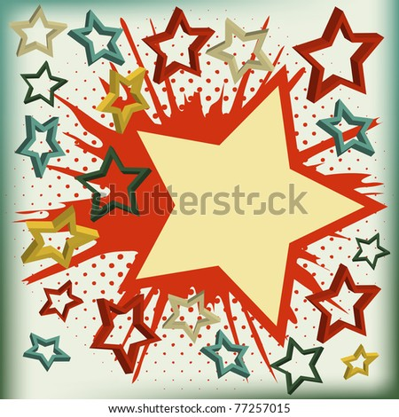 Vector background of explosion star. Vector illustration.