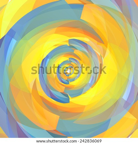 Vector background of geometric colorful spiral texture. Vector EPS10. - stock vector