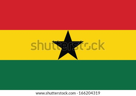 vector background of Ghana flag - stock vector
