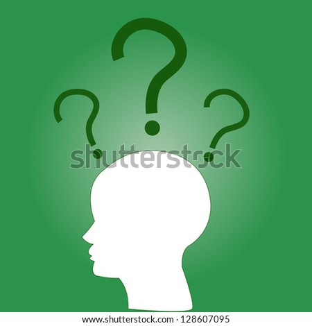 Vector background of green the head