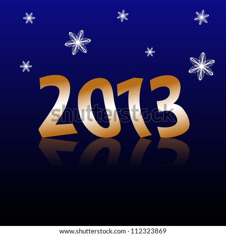 Vector background of Happy New Year 2013 - stock vector