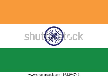 vector background of india flag - stock vector