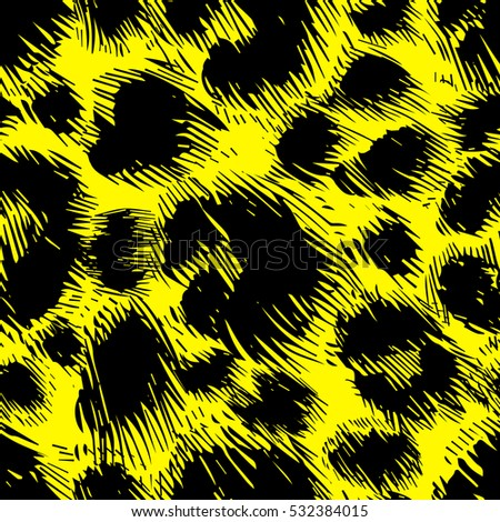vector background of leopard skin pattern. handpickted