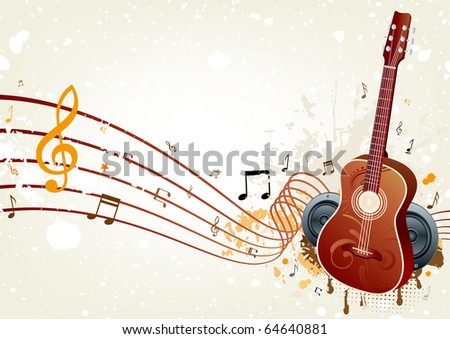 vector background of music themed - stock vector