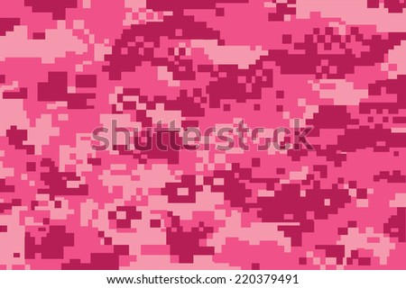 vector background of pink digital camoflage pattern - stock vector