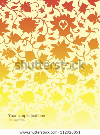 Vector background of plant motifs.