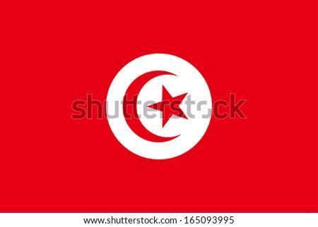 vector background of tunisia flag - stock vector