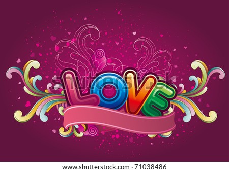 vector background of valentine's day - stock vector