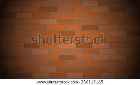 Vector background or texture - brick wall - stock vector