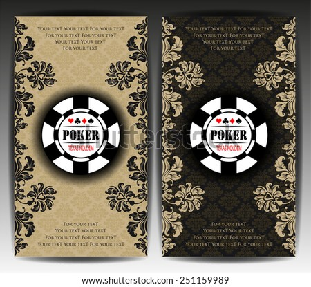 Vector background. Poker and casino chip. Texas holdem. All-in. - stock vector