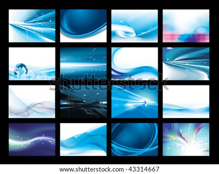Vector Background Set - stock vector