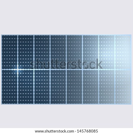 Vector background. Solar panels. - stock vector