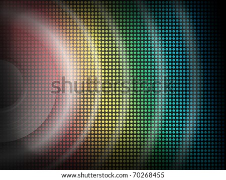 Vector Background  - Speaker with bright disco lights overlaid - stock vector