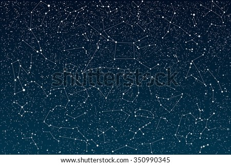 Vector background.  Stars on the dark blue sky. Starry night sky. - stock vector